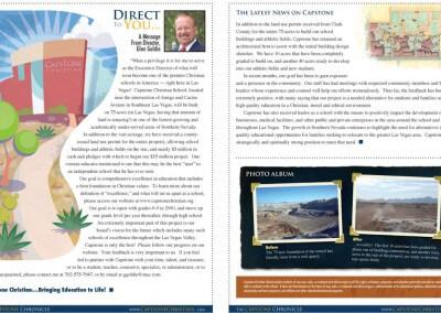 Print Design :: Capstone Newsletter