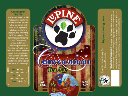 Lupine Beer Label :: Convocation Tea Ale