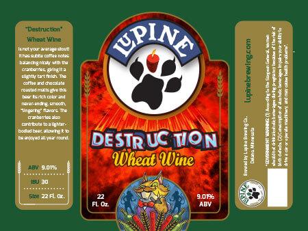 Lupine Beer Label :: Destruction Wheat Ale