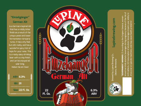 Lupine Beer Label :: Einzelganger German Alt