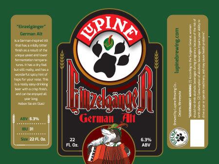 Lupine Beer Label :: Einzelganger German Alt