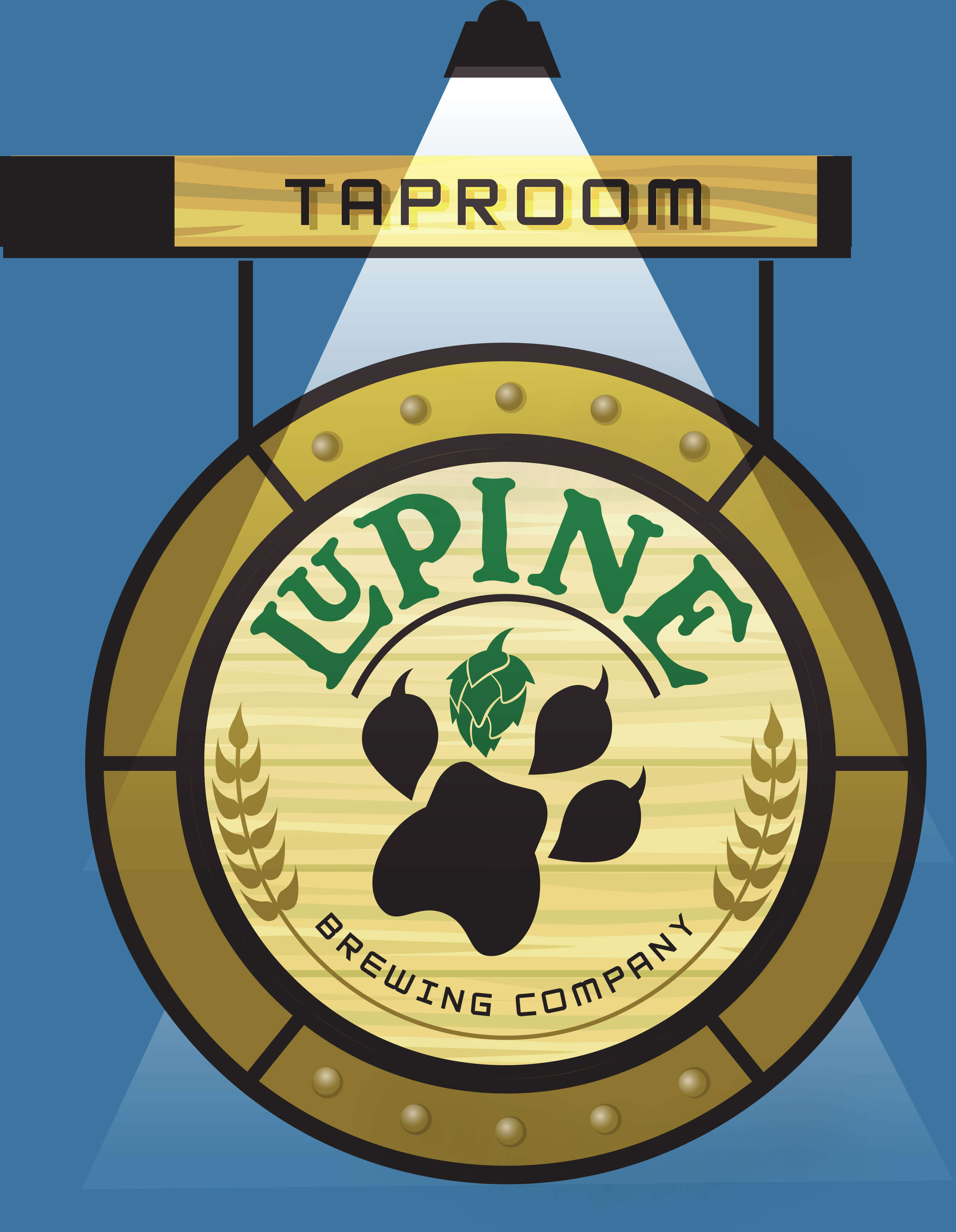 Lupine Taproom Sign Design