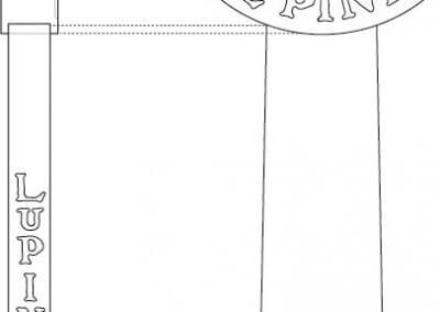 Lupine Tap Handle Design