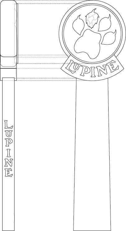 Lupine Tap Handle Design
