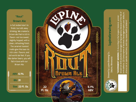 Lupine Beer Label :: Rout Brown Ale